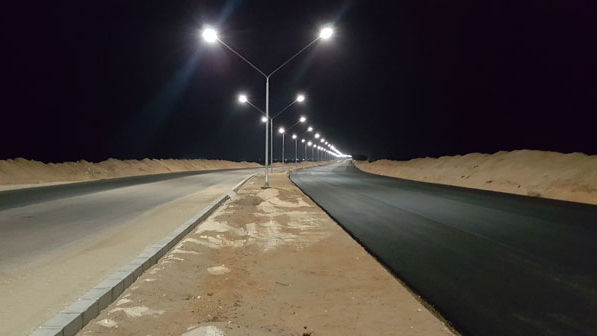 Street lighting with solar energy in Egypt, by LEDil