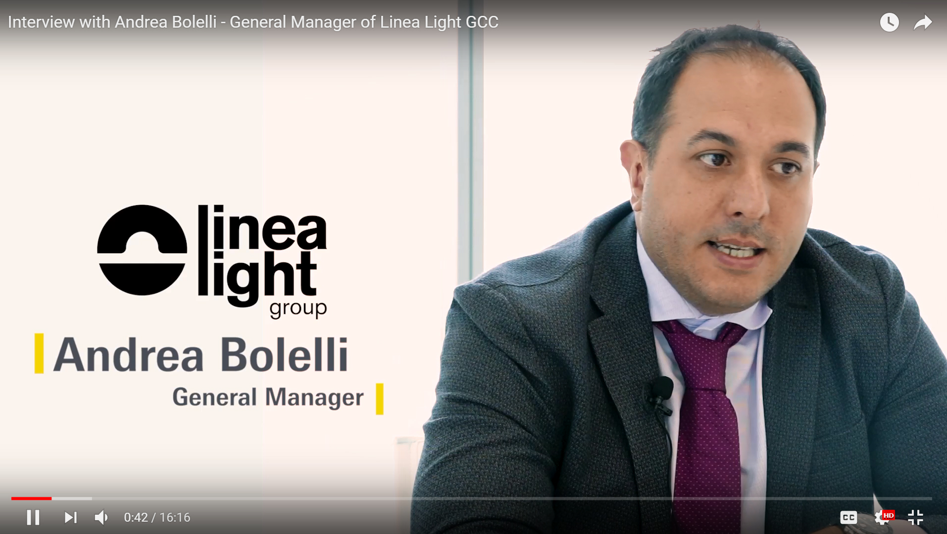 Interview with Andrea Bolelli - General Manager of Linea Light GCC