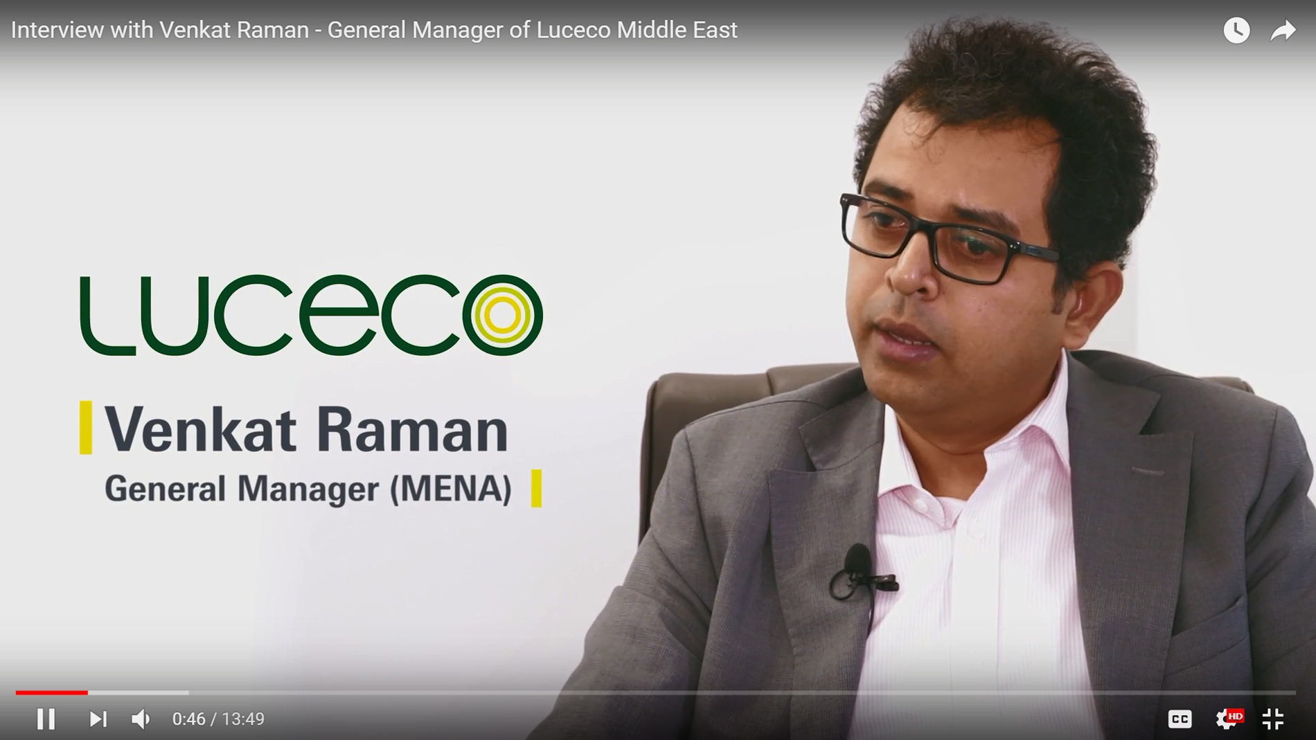 Interview with Venkat Raman - General Manager of Luceco Middle East